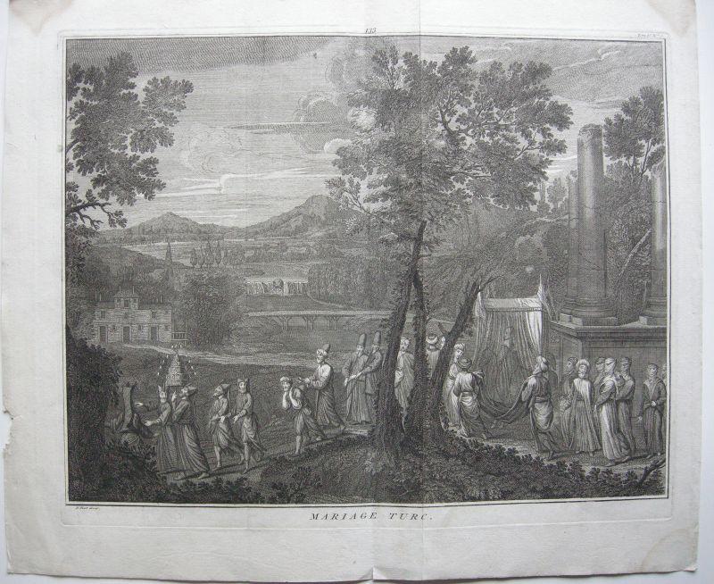 Türkei Türkische Osmanische Hochzeit Orig Kupferstich Picard 1729