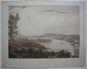 Waterford East View Irland Munster Orig Aquatinta 1795 Alken nach Roberts