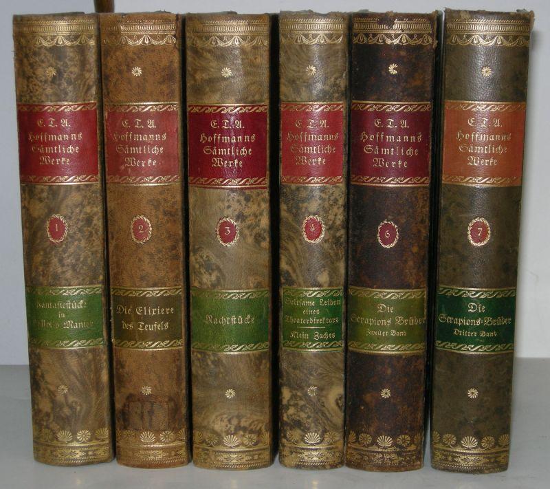 E. T. A. Hoffmann Sämtliche Werke Georg Müller 6 Bde 1908-1914 Halbleder