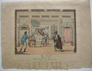 Theaterszene Fra Diavolo Oper Auber Orig Kupferstich 1830 Zinke Schoeller