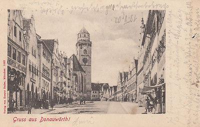 AK Donauwörth Hauptstraße  gel 1902 Schwaben