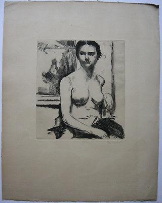 Else Winterfeld (? - nach 1949) Weiblicher Akt  Orig Radierung signiert um 1930