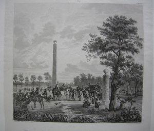 Napoleon Treffen mit Papst Pius VII. Fontainebleau 1804 Stahlstich 1837