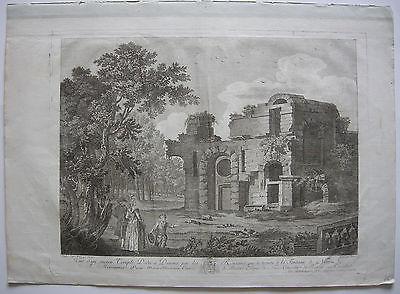 Nimes France Provence Diana Tempel Taille douce Orig Kupferstich 1770 Laurent