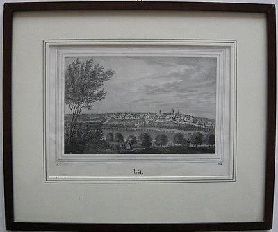 Zeitz Sachsen-Anhalt Gesamtansicht Orig Lithografie 1836