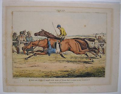 Pferderennen Ideas Farblithographie H Alken 1830 Horse Racing