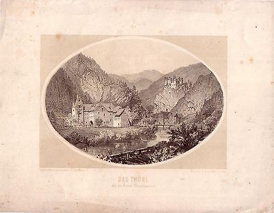 Thörl Schachenstein Steiermark getönte Orig. Lithografie C. Reichert 1840