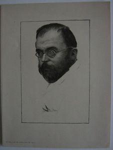 Karl Mediz (1868-1945) Portrait Robert Diez Orig Lithografie 1910
