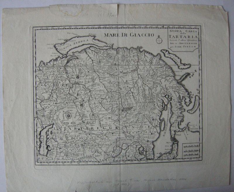 Asiatisches Russland Orig Kupferstich Tirion Amsterdam 1769 Asien Tartaria