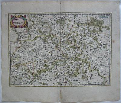 Sachsen Lausitz  altkolor Orig Kupferstichkarte Mercator Janssonius 1627