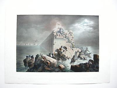 Venedig Venezia Battaglia 1848 Veneto Lithographie 1849 Kollarz Italia