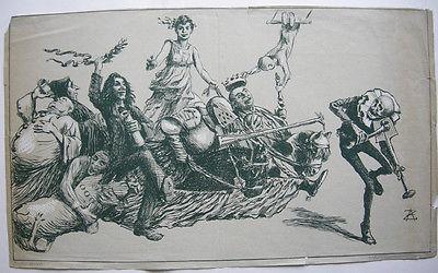 Alfred Zimmermann (1854-1910) Theatre Variete Orig Lithografie 1890