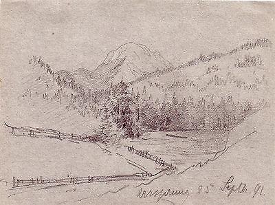 Johanna (Jenny) v Raesfeldt  Ursprung Schliersee Orig Zeichnung '91 Nachlass