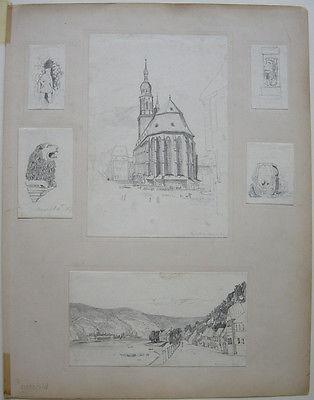 E. Rigby, Lady Eastlake (1809-1893) Schlierbach Heidelberg Orig Zeichnungen 1827