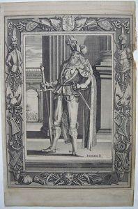 Diderik II van Brederode (1144-1207)  Portrait Orig Kupferstich 1730 Niederlande