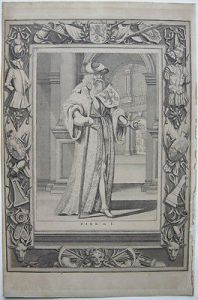 Dirk de I. van Brederode (1180-1236)  Portrait Orig Kupferstich 1730 Niederlande