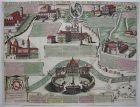 Le sette Chiese di Roma kolor Kupferstich 1680 Giovanni Rossi Italia