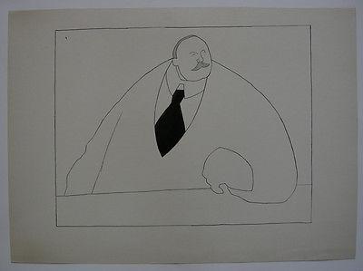 Egon Krause (XIX/XX. Jh.) Entwurf Simplicissimus Herr Geheimrat 1925