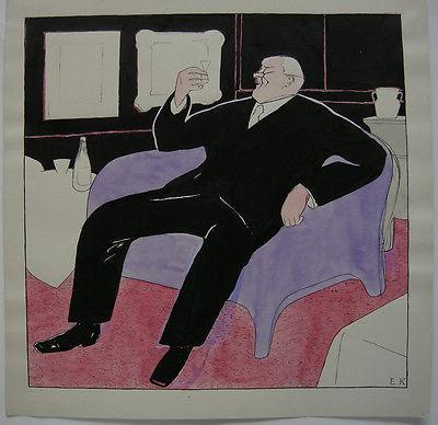 Egon Krause (XIX/XX. Jh.) Entwurf Simplicissimus Edler Tropfen monogr 1925