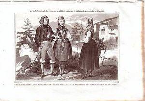 Koblenz Frankfurt Hessen Rheinl Trachten Kostüme Orig Stahlstich 1850 Pardinel