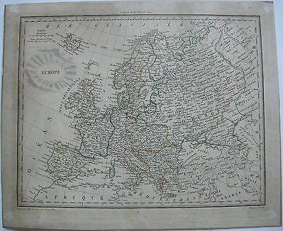 Europa  Kolor Kupferstichkarte 1800 Chamouin Paris Giraldon