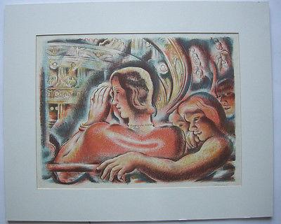 Svatopluk Machal (1895-1947) Im Theater Orig Lithografie signiert 1930