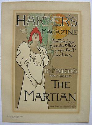 Harper's Magazine Lithografie Fred Hyland Maitres de l'affiche 1895