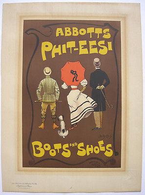 Abbotts Boots Shoes Dudley Hardy Lithografie Maitres de l'affiche 1895