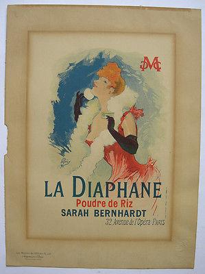 Jules Cheret (1836-1932) La Diaphane Lithografie Maitres de l'affiche 1890