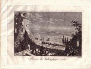 Endler Gröditzberger Feste Schlesien Orig Aquatinta 1801 Slask Polen