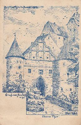 AK Neuburg Oberes Thor Künstlerkarte Wohltätigkeits-Bazar 1902 ungel