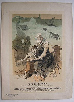 Jules Cheret (1836-1932) Fete de Charité Lithografie Maitres de l'affiche 1896