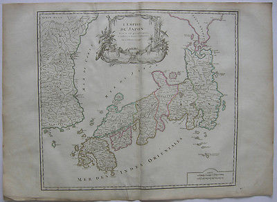 Japan Korea Ostasien Asien Sumatra Orig Kupferstich R. Vaugondy 1680  Nippon