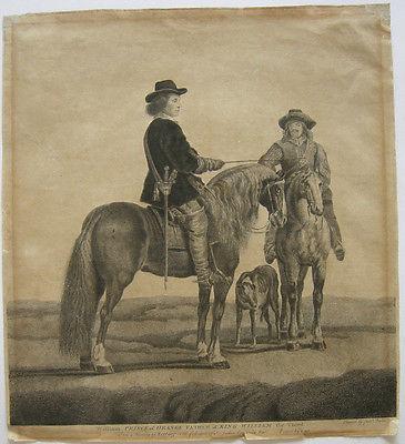 William Baillie (1723-1810) William Prince Orange zu Pferd Orig Radierung 1771