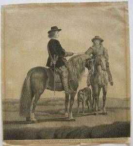 William Baillie (1723-1810) William Prince Orange zu Pferd Orig Radierung 1771