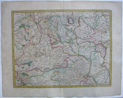 Westfalen altkolor Orig Kupferstichkarte Mercator Hondius 1627 Nordrhein