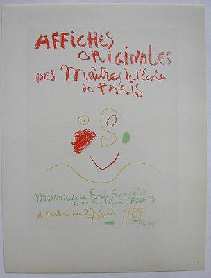 Pablo Picasso Affiches Originales 1959 Orig Lithografie Maitres de l'Ecole 1959