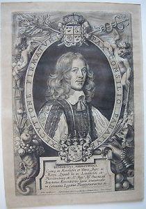 Benedictus Oxenstierna Graf Wasa Schweden Portrait Orig Kupferstich 1706