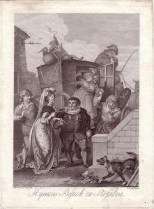 Ramberg Hymens Besuch zu Rosalva Kupferstich 1793