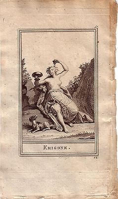 Erigone Mythologie Portrait Orig Kupferstich 1800