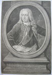 Johann Wilhelm Friso Prinz von Oranien Portrait Kupferstich Haid 1750 Holland