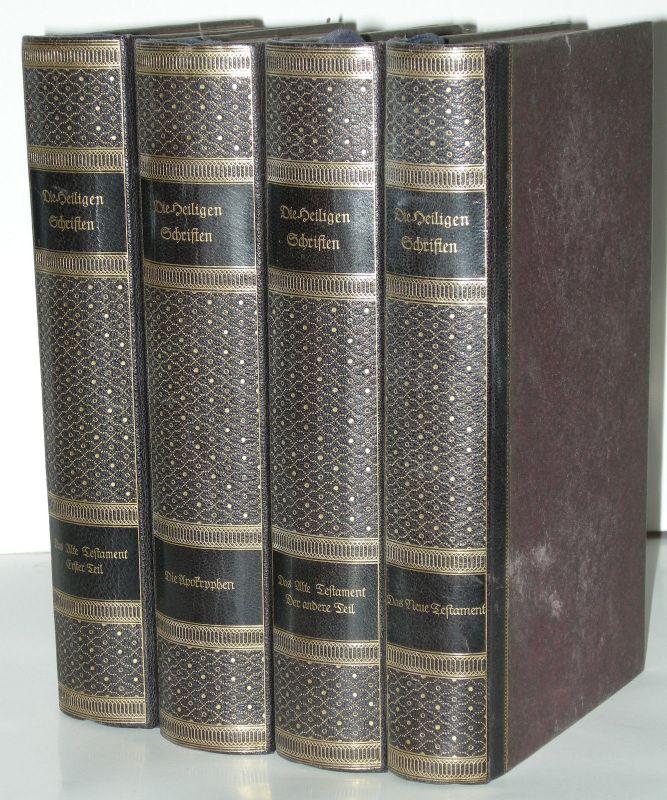 Die Heiligen Schriften 4 Bände Georg Müller Verlag Halbleder 1910 Bibliophilie