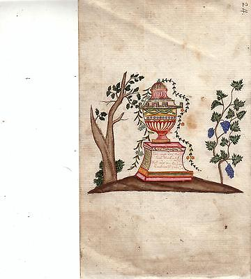 Stammbuchblatt Freundschaftsbild Orig Farbzeichnung 1820 Sinnspruch