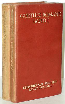 Goethe Romane Novellen Insel Vlg Großherzog Wilhelm Ernst Ausg Leder 2 Bde 1905