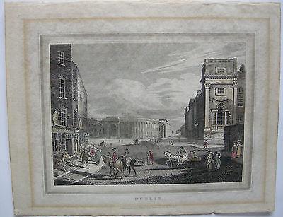 Dublin Ireland Eire Orig Kupferstich Copper engraving 1816