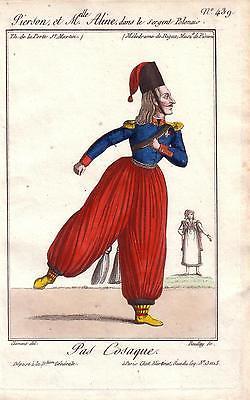 Pas Cosaque Kosakentanz kolor Orig Kupferstich Boullay 1815 Russland