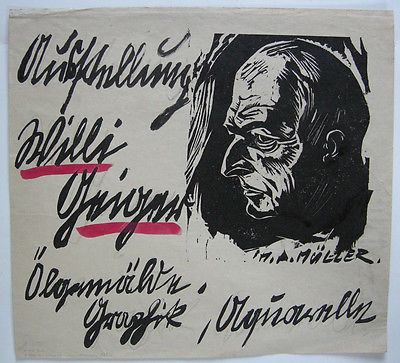 Ausstellung Willi Geiger Holzschnitt von Hans Alexander Müller um 1930