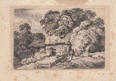 Ferdinand Kobell (1740-1799) Bauernkate Orig Radierung 1778