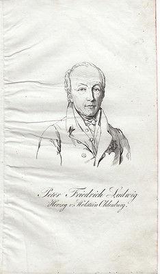 Peter Friedr Ludwig (1755–1829) Herzog von Holstein Oldenb Orig Radierung 1840