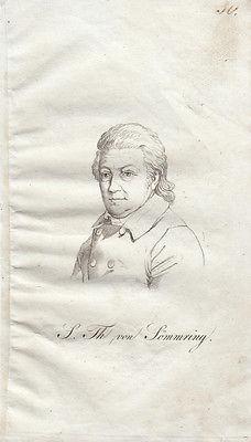 Samuel Th. von Sömmering (1770–1844) deutscher Anatom Orig Radierung 1840
